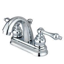 <strong>Elements of Design</strong> Chicago Centerset Bathroom Sink Faucet with Double Metal Handles