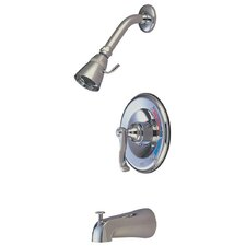 Royale Diverter Tub and Shower Faucet with French Lever Handles