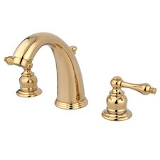 Widespread Bathroom Faucet with Double Metal Lever Handles