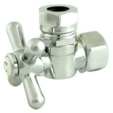 "<strong>Elements of Design</strong> 1.87"" Decorative Quarter Turn Valve with Cross Handle"