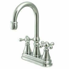 <strong>Elements of Design</strong> Madison Centerset Bar Faucet with Knight Cross Handles