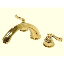 Double Handle Deck Mount Roman Tub Faucet Trim French Lever Handle