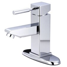 <strong>Elements of Design</strong> South Beach Single Handle Mono Block Bathroom Faucet with Pop-Up Drain and Plate