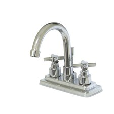 Tampa Centerset Bathroom Faucet with Double Cross Handles
