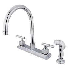 Tampa Double Handle Centerset Kitchen Faucet with Claremont Lever Handle