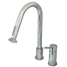 Widespread Kitchen Faucet with Concord Lever Handle and Pull Out Spray