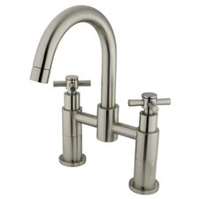 Two Handle Deck-Mount Diverter Tub and Shower Faucet