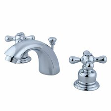 <strong>Elements of Design</strong> Elizabeth Mini Widespread Bathroom Faucet with Double Cross Handles