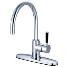 Kaiser Single Handle Single Hole Kitchen Faucet with Deck Plate