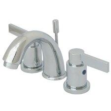 NuvoFusion Double Handle Goose Neck Spout Mini Widespread Bathroom Faucet