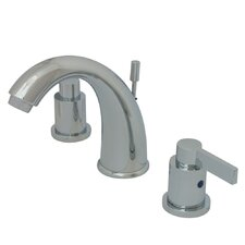 <strong>Elements of Design</strong> NuvoFusion Double Handle Goose Neck Spout Widespread Bathroom Faucet