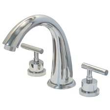 <strong>Elements of Design</strong> Manhattan Double Handle Deck Mount Widespread Roman Tub Filler
