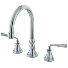 <strong>Elements of Design</strong> Silver Sage Double Handle Kitchen Faucet without Sprayer