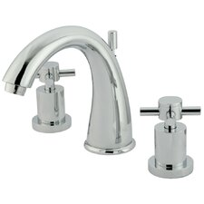 <strong>Elements of Design</strong> Concord Double Handle Widespread Bathroom Faucet with Brass Pop-Up
