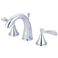<strong>Elements of Design</strong> Century Double Handle Deck Mount Widespread Bathroom Faucet