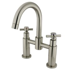 <strong>Elements of Design</strong> Concord Double Handle Deck Mount Roman Tub Filler