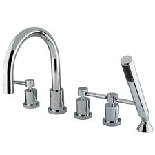 <strong>Elements of Design</strong> Concord Three Handle Roman Tub Filler with Hand Shower