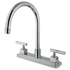 Claremont Double Handle Deck Mount Kitchen Faucet