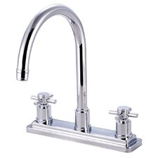 <strong>Elements of Design</strong> Concord Double Handle Deck Mount Kitchen Faucet without Sprayer