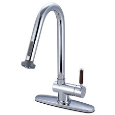Wilshire Single Handle Kitchen Faucet Pull-Down Sprayer