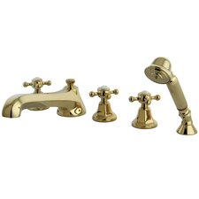 Metropolitan Roman Tub Faucet and Diverter Hand Shower