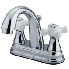 Elizabeth Centerset Bathroom Faucet with Double Porcelain Cross Handles