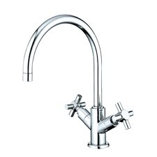 South Beach Double Cross Handle Vessel Sink Faucet without Pop-Up and Plate