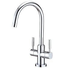 <strong>Elements of Design</strong> South Beach Double Handle Vessel Sink Faucet without Pop-Up and Plate