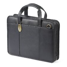 Small File Leather Laptop Briefcase