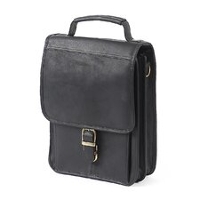 Mini Leather Laptop Briefcase