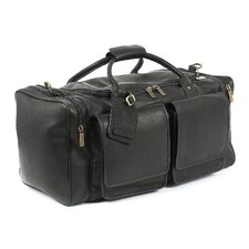"Hampton's 23"" Leather Carry-On Duffel"