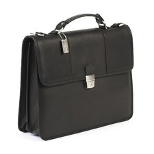 <strong>Claire Chase</strong> Tuscan Leather Laptop Briefcase