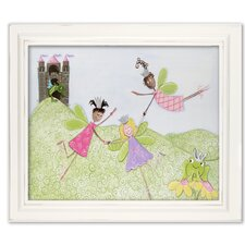 Fairies Princess Picnic Giclee Framed Art