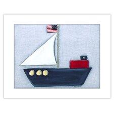 Transportation Sailboat Giclee Framed Art