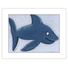 Sea Life Shark Giclee Framed Art