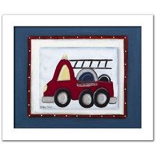 Transportation Fire Truck Framed Art