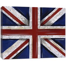 Travel Union Jack Flag Photographic Print on Canvas