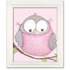 Birds and Bunnies Octavia Owl Framed Art
