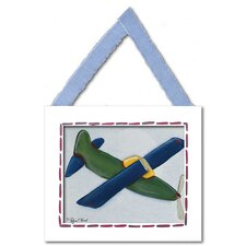 Green Plane Framed Giclee