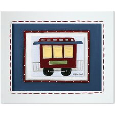 Transportation Caboose Framed Giclee Wall Art