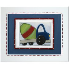 Transportation Cement Mixer Giclee Framed Art