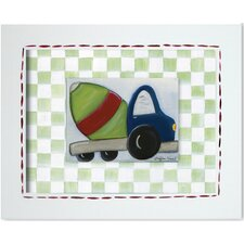 Transportation Cement Mixer Framed Art