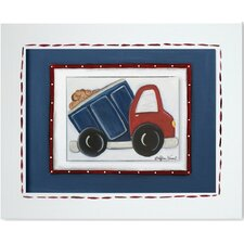 Transportation Dump Truck Giclee Framed Art