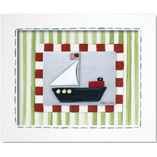 Transportation Sailboat Framed Art
