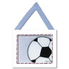 Sports Soccer Ball Giclee Framed Art