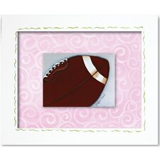 <strong>Doodlefish</strong> Sports Football Framed Giclee Wall Art