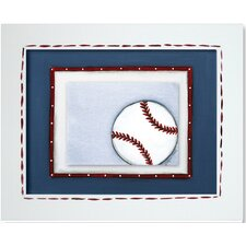 <strong>Doodlefish</strong> Sports Baseball Framed Giclee Wall Art