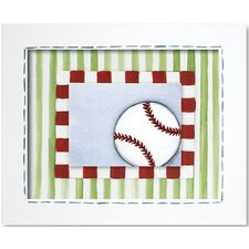 Sports Baseball Framed Art