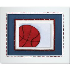 Sports Basketball Giclee Framed Art