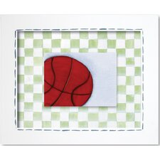 Sports Basketball Framed Art